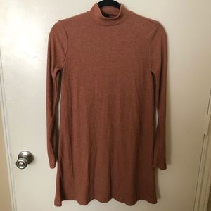 Forever 21 Tan Long Sleeve Knit Dress Size Small